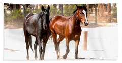 Horses Unlimited_6a Beach Towel