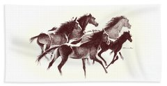 Horses2 Mug Beach Towel