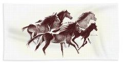 Horses2 Mug Beach Sheet