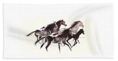 Horses4 Mug Beach Sheet