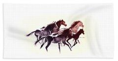 Horses5 Mug Beach Sheet