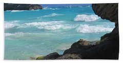 Horseshoe Bay Rocks Beach Towel by Ian  MacDonald