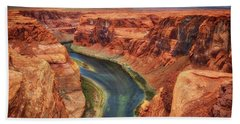 Beach Sheet featuring the photograph Horseshoe Bend Arizona - Colorado River #2 by Jennifer Rondinelli Reilly - Fine Art Photography