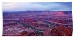 Beach Towel featuring the photograph Horseshoe Bend At Dawn by Marie Leslie