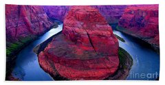 Horseshoe Bend Beach Towel by Jason Abando