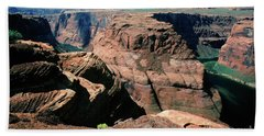 Horseshoe Bend Of The Colorado River Beach Towel by Wernher Krutein