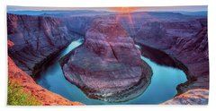Horseshoe Bend Sunset Beach Sheet