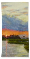 Horseshoe Cove Sunset Beach Towel