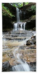 Beach Towel featuring the photograph Horseshoe Falls #6735 by Mark J Seefeldt