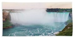 Horseshoe Falls At Dusk Beach Sheet