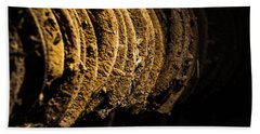 Beach Towel featuring the photograph Horseshoes by Jay Stockhaus