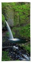 Horsetail Falls Waterfall Art By Kaylyn Franks Beach Towel