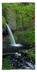 Horsetail Falls Waterfall Art By Kaylyn Franks Beach Sheet
