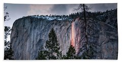 Horsetail Waterfall Glow 2017 Beach Towel