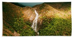 Horsetail Waterfalls Tasmania  Beach Towel