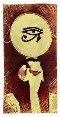 Horus - Falcon God Of Ancient Egypt Beach Towel