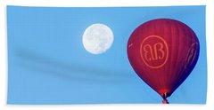 Hot Air Balloon And Moon Beach Sheet