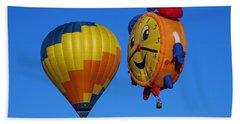 Hot Air Balloon Conversation Beach Sheet