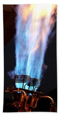 Hot Air Balloon Flame Beach Towel