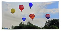 Beach Sheet featuring the photograph Hot Air Balloon Launch by Angela Murdock