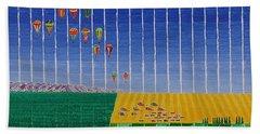 Hot Air Balloon Party Beach Sheet