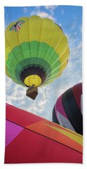 Hot Air Balloon Takeoff Beach Sheet