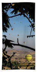 Hot Air Balloons In Cappadocia, Turkey Beach Sheet