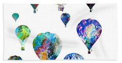 Hot Air Balloons Beach Sheet