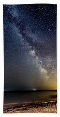 Hot August Night Milky Way Beach Towel by Patrick Fennell