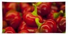 Hot Cherry Peppers Beach Sheet