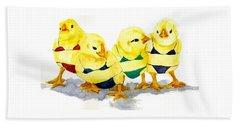 Hot Chicks...henpecking Not Allowed Beach Sheet