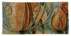 Beach Towel featuring the painting Hot Desert Sun by Cynthia Powell