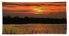Beach Towel featuring the photograph Hot Mud Flats by Laura Ragland