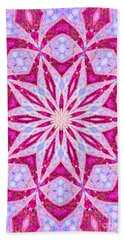 Hot Pink And Blue Beach Towel by Shirley Moravec