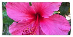 Hot Pink Hibiscus  Beach Towel