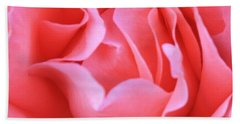 Hot Pink Petals Beach Towel