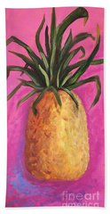 Hot Pink Pineapple Beach Towel