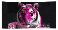 Hot Pink Tiger Beach Towel