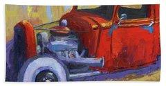 Hot Rod Chevy Truck Beach Towel