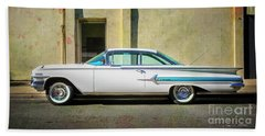 Hot Rod Impala Beach Sheet by Craig J Satterlee