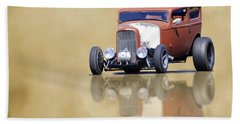 Hot Rod Reflection Beach Towel