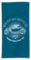 Hot Rod Shop Shirt Beach Towel