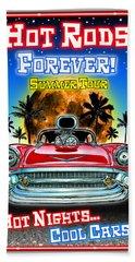 Hot Rods Forever Summer Tour Beach Towel