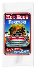 Hot Rods Forever Summer Tour Beach Towel