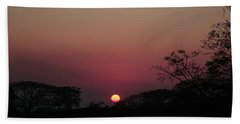 Hot Tropical Sunset Beach Towel