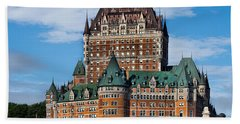 Chateau Frontenac In Quebec City Beach Towel