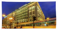 Beach Sheet featuring the photograph Hotel Grande Bretagne - Athens by Yhun Suarez