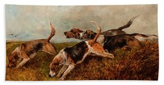 Hounds On The Scent Beach Towel