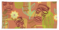 Hour At The Tiki Room Beach Towel by Little Bunny Sunshine