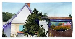 House At Giverny Beach Towel